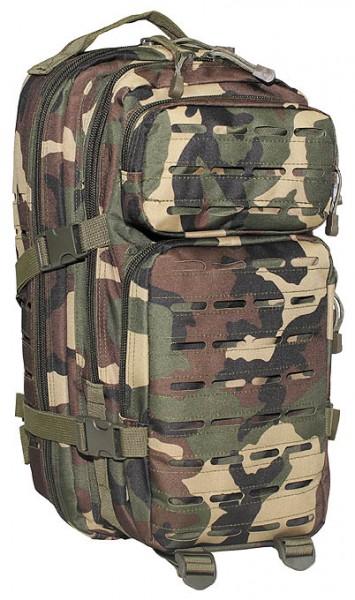 US Rucksack Assault I Laser woodland vorn - armyoutlet.de