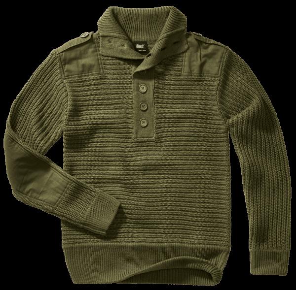 Brandit Alpin Pullover - oliv - vorn - armyoutlet