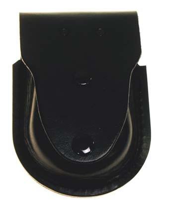 Leder Handschellenetui schwarz extra vorn