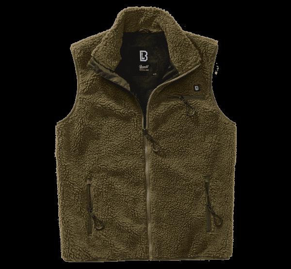 Brandit Teddyfleece Vest Men - oliv - vorn - armyoutlet