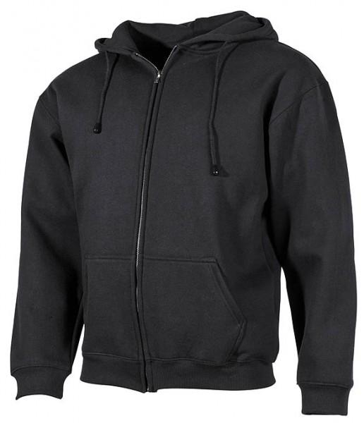 Kapuzen Sweatshirtjacke schwarz