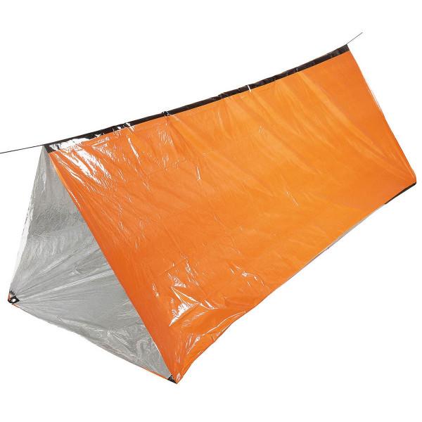 Notfall-Zelt orange einseitig alubeschichtet - aufgebaut - armyoutlet