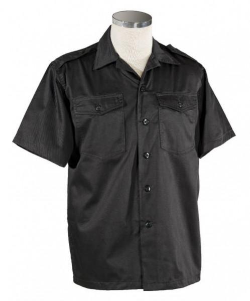 US Hemd kurzarm schwarz