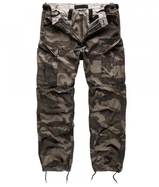 Surplus Vintage Fatigue Trousers - armyoutlet - blackcamo vorn
