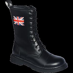 Knightsbridge Dark Creationz 10 Loch Boots mit Motiv