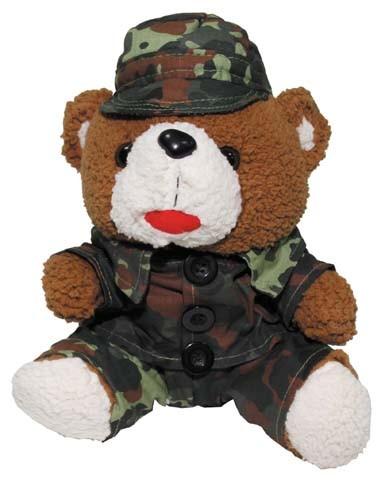 Teddybär 28 cm flecktarn
