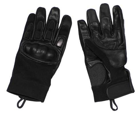 Neopren Handschuhe schwarz mit Knöchel und Fingerschutz
