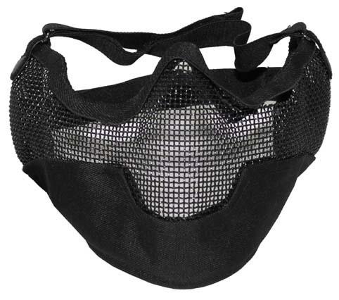 Gesichtsschutzmaske Airsoft schwarz