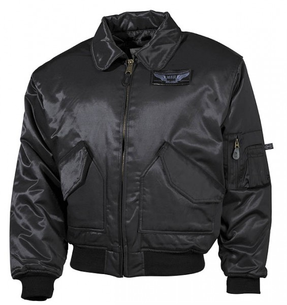 CWU-Piloten-Jacke schwere Ausführung schwarz