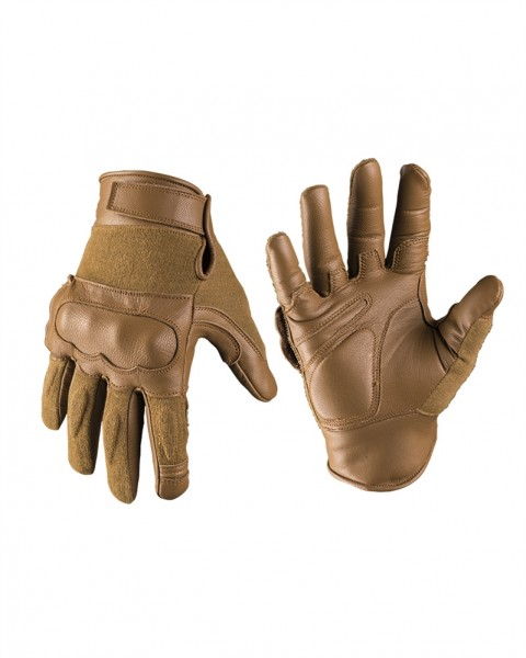Tactical Gloves Leder Kevlar coyote