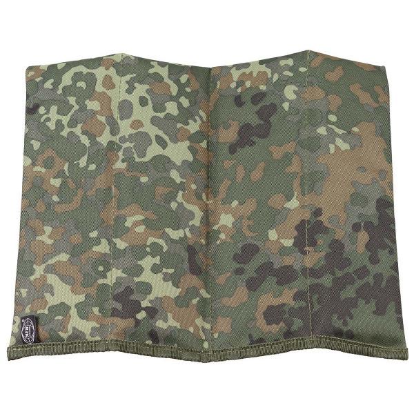 Sitzkissen faltbar - flecktarn - entfaltet - armyoutlet