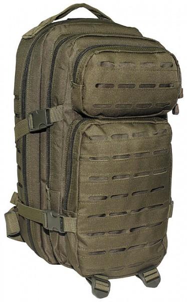 US Rucksack Assault I Laser oliv vorn - armyoutlet.de