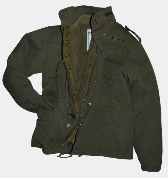 Feldjacke M65 Vintage Style schwarz und oliv