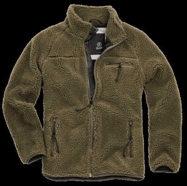 Brandit Teddyfleece Jacket oliv vorn - armyoutlet.de