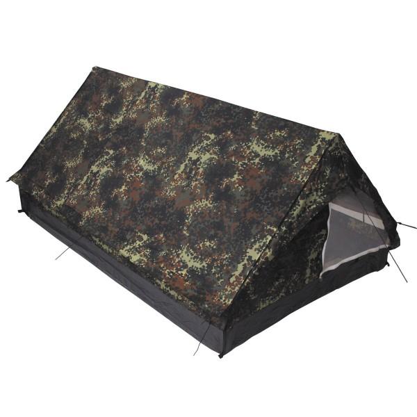 2 Personen Zelt Minipack flecktarn