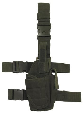 Pistolenbeinholster verstellbar rechts oliv