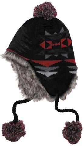 Mütze Peru Ica schwarz rot