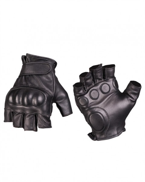Tactical Fingerlinge Leder schwarz armyoutlet.de