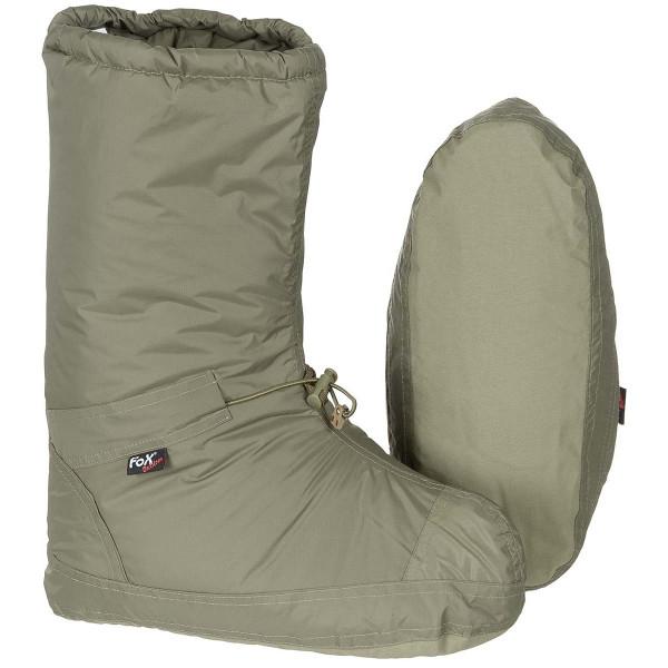 Biwakschuhe Polar winddicht - oliv - ausgepackt - armyoutlet