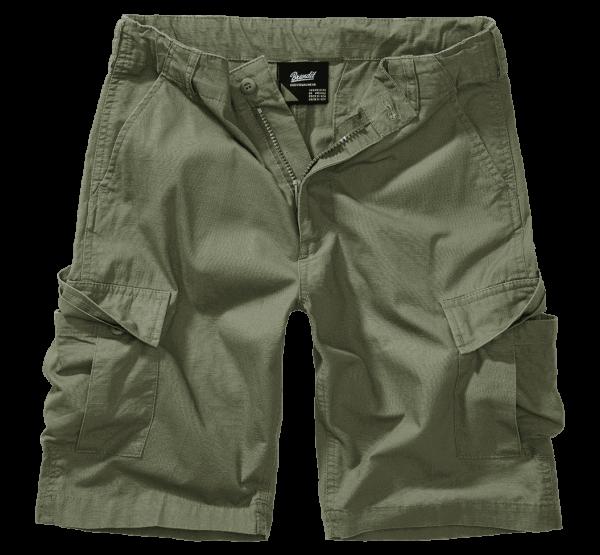 Brandit Kids BDU Ripstop Shorts - oliv - vorn - armyoutlet