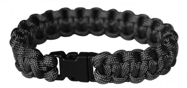 Paracord Armband mit Clip oliv schwarz