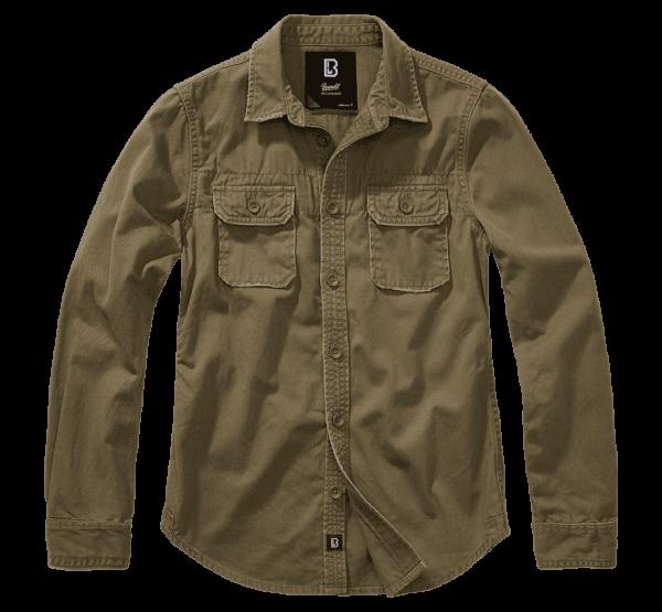 Brandit Ladies Vintageshirt longsleeve - oliv - vorn - armyoutlet