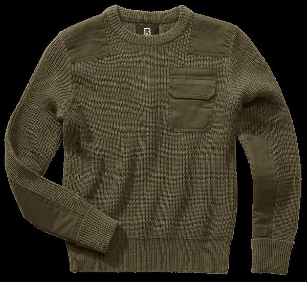 Brandit Kids BW Pullover - oliv - vorn - armyoutlet