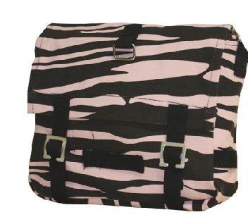 Umhängetasche Zebra pink / schwarz