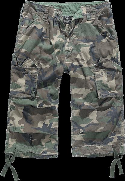Brandit Urban Legend 3/4 Cargo Shorts woodland vorn - armyoutlet.de