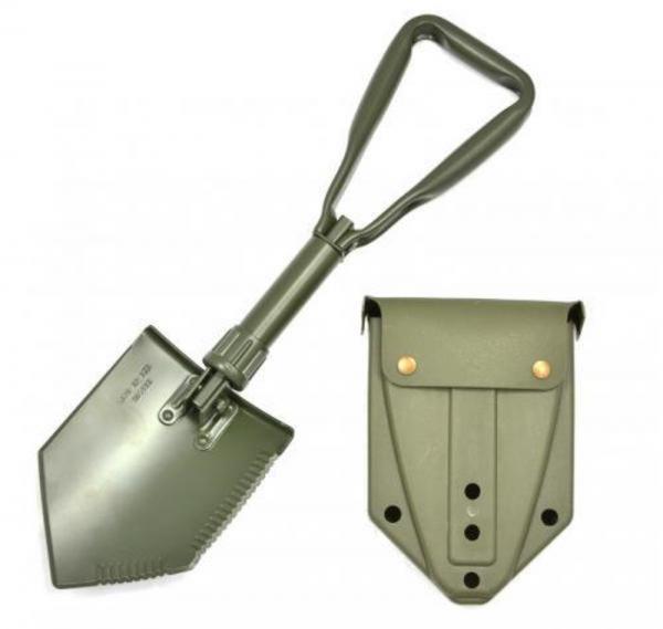 Feldspaten BW mit Kunststofftasche oliv