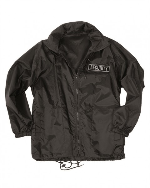 Security Windbreaker Jacke schwarz