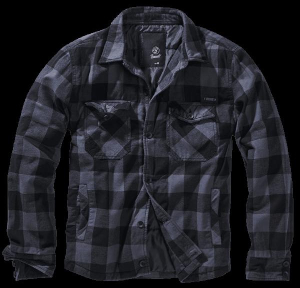 Brandit Lumberjacket black-grey vorn - armyoutlet.de