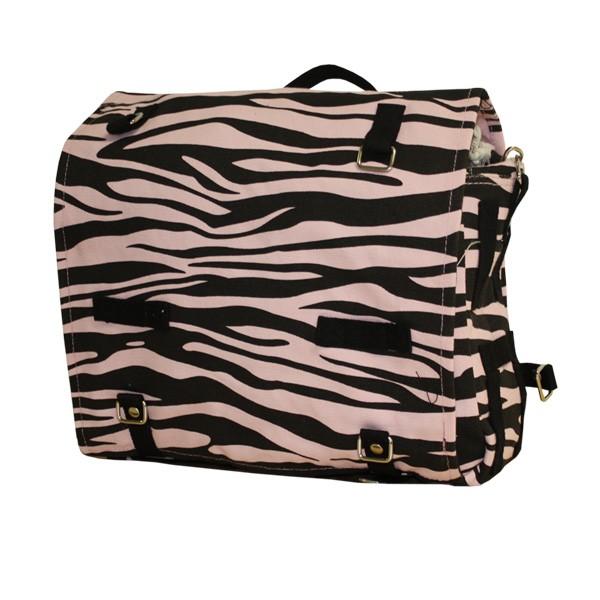 BW Kampftasche groß Zebra pink / schwarz