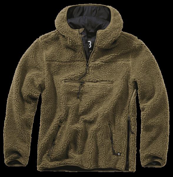 Brandit Teddyfleece Worker Pullover - oliv - vorn - armyoutlet