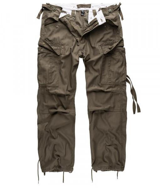 Surplus Vintage Fatigue Trousers - armyoutlet - oliv vorn
