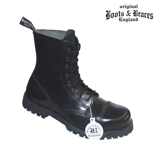 Boots & Braces 8 Loch Boots schwarz