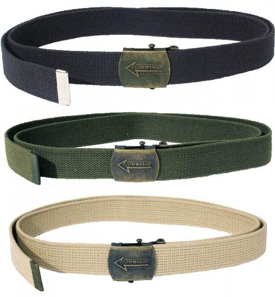 Army Style Gürtel schwarz, oliv, beige
