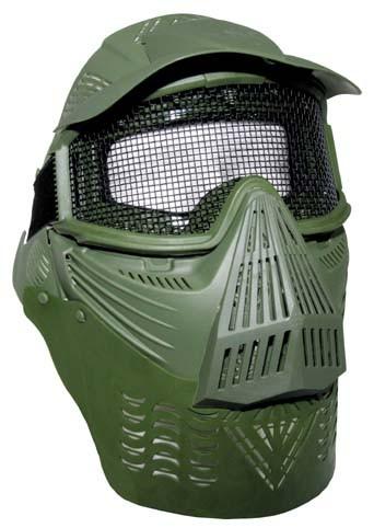 Gesichtsschutzmaske Airsoft De Lux oliv
