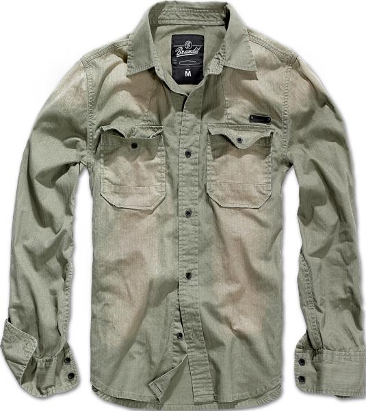 Brandit Hemd Hardee oliv-grau