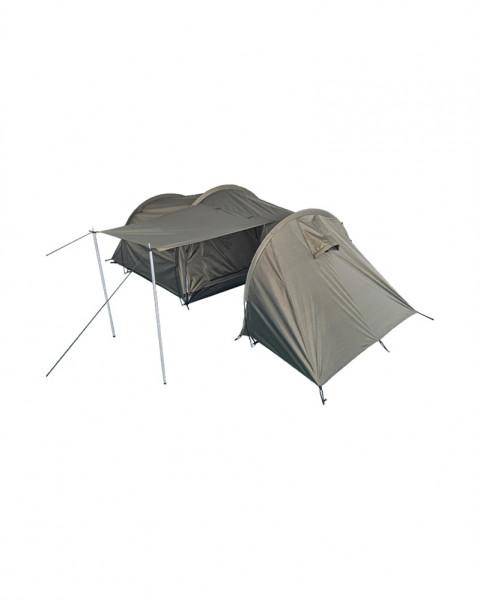 2 Personen Zelt mit Stauraum - armyoutlet - aufgebaut