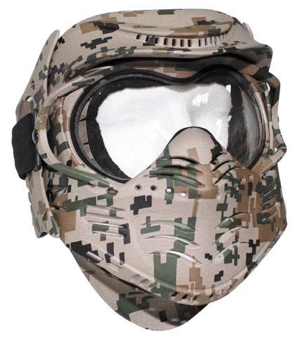 Gesichtsschutzmaske Fight digital woodland