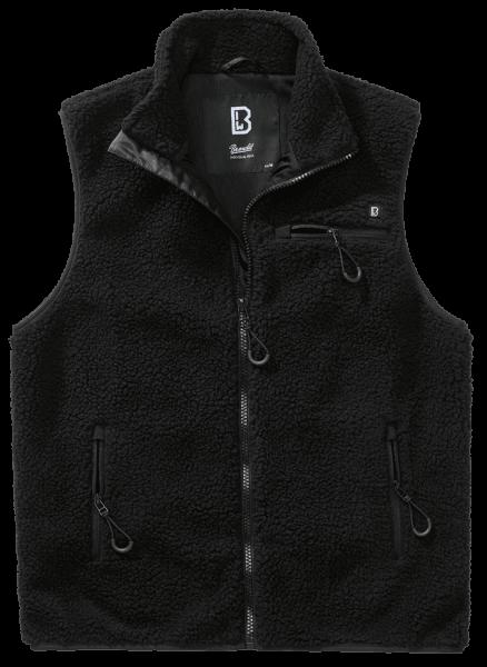 Brandit Teddyfleece Vest Men - schwarz - vorn - armyoutlet
