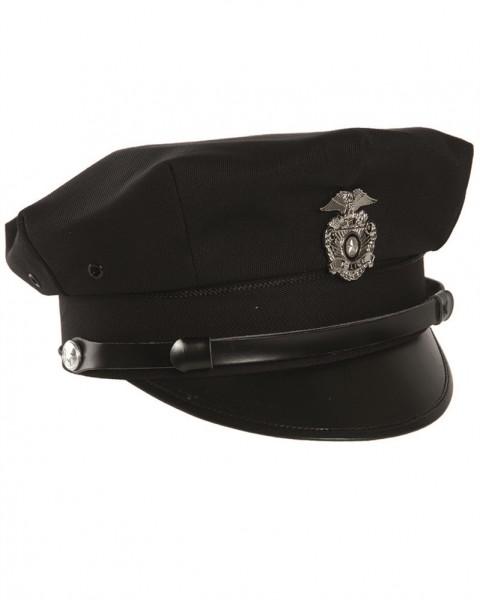 US Police Schirmmütze mit Abzeichen