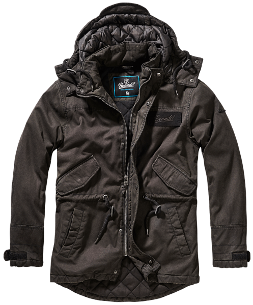 Brandit Nile coated Parka MEN schwarz