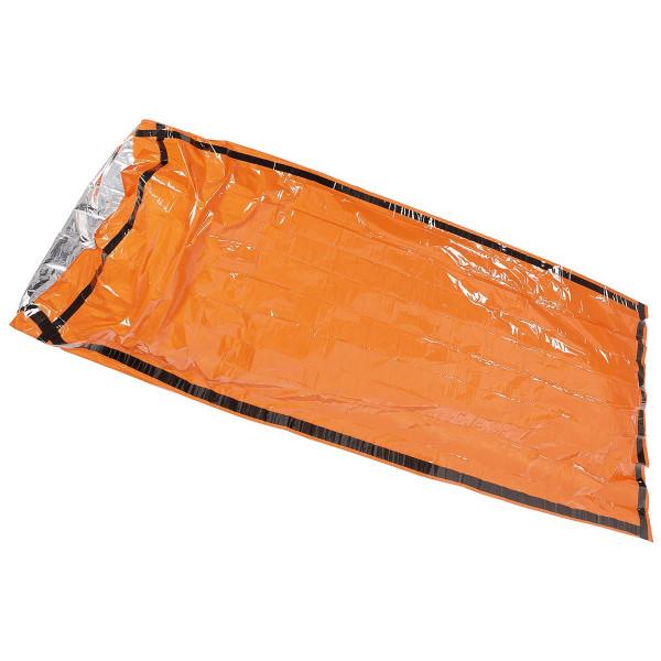 Notfall-Biwaksack orange einseitig alubeschichtet - ausgerollt - armyoutlet