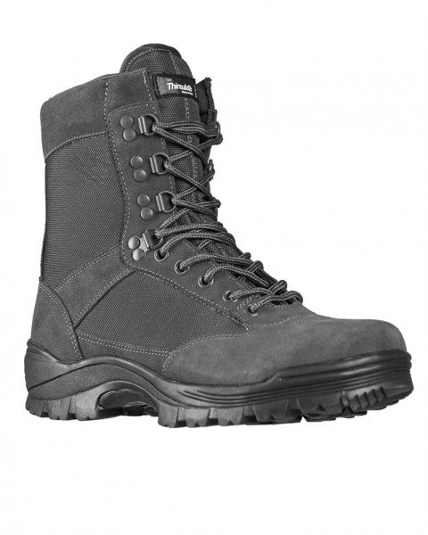 Tactical Boots mit Zipper grau