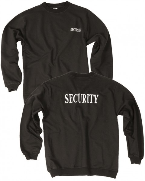 Security Sweatshirt schwarz