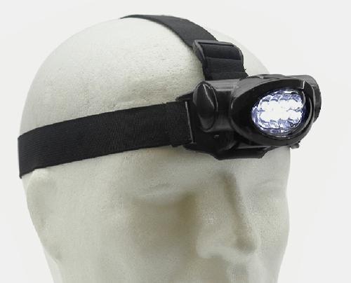 Stirnlampe 8 LED schwarz