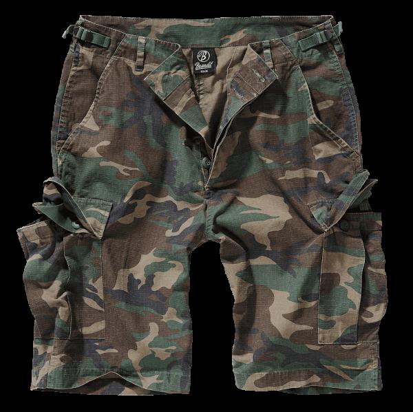 Brandit BDU Ripstop Shorts woodland vorn armyoutlet.de