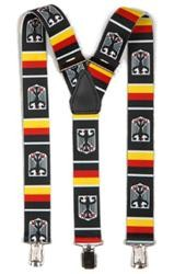 Hosenträger mit Clips Deutschland mit Wappen